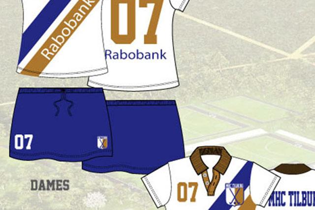 Hockey tenue voor fusie Tilburg en Forward.