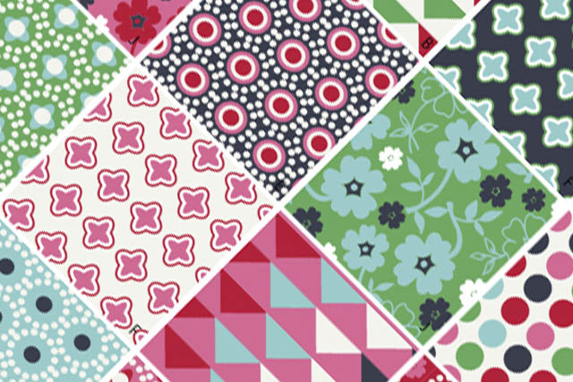 Scrapbook designs in textile