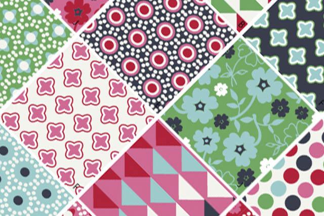 Scrapbook designs in textile