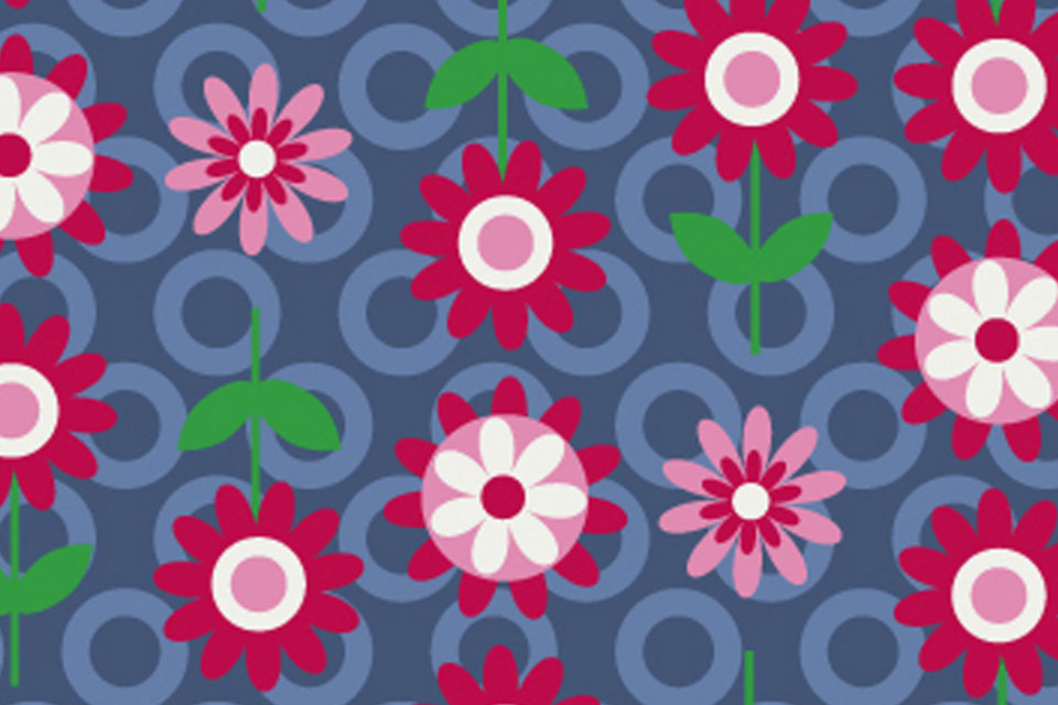 Flower Frame theme fabric collection