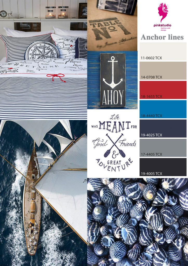 nautical graphic moodboard