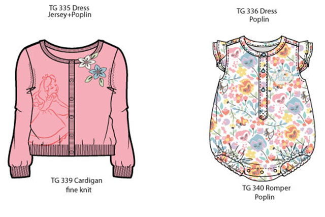Alice in wonderland Baby Girls collection summer