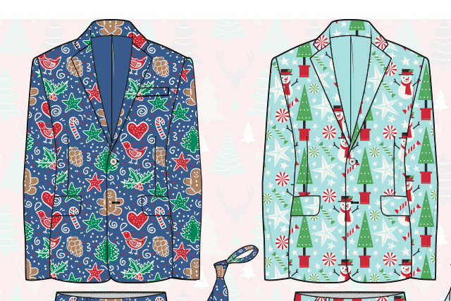 Christmas suit ladies and men