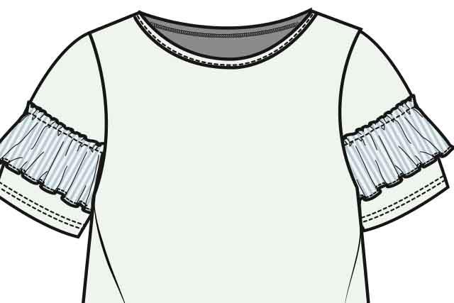 Womenswear classic stripe
